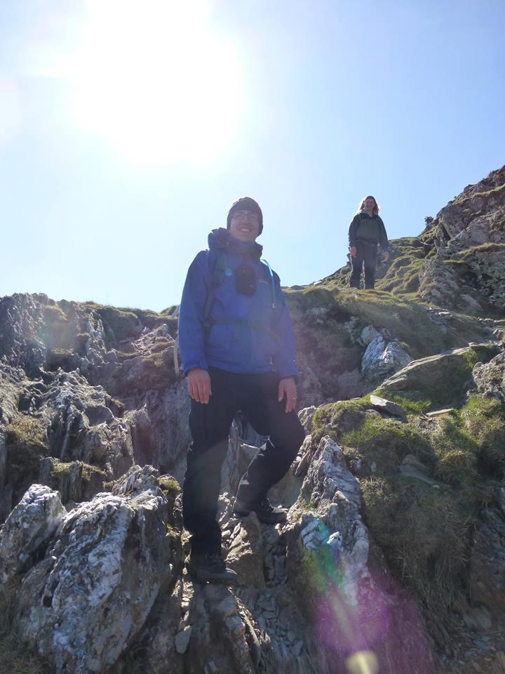 Descending from y Lliwedd