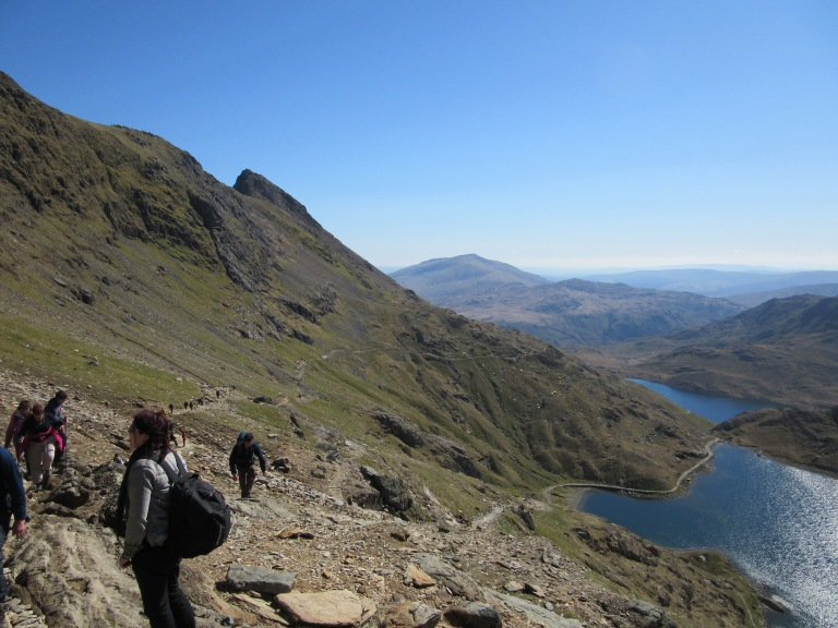 Gaining height on the Pyg Track