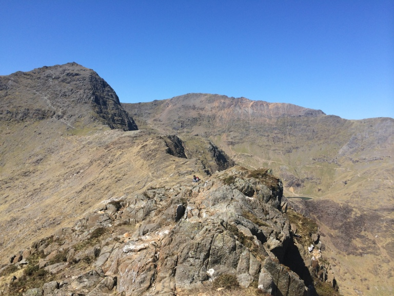 Looking back to Snowdon from the top of y Lliwedd