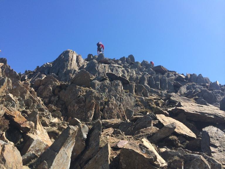 Scrambling to the top of y Lliwedd