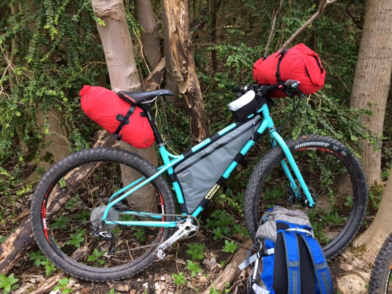 The Stooge in bikepacking mode