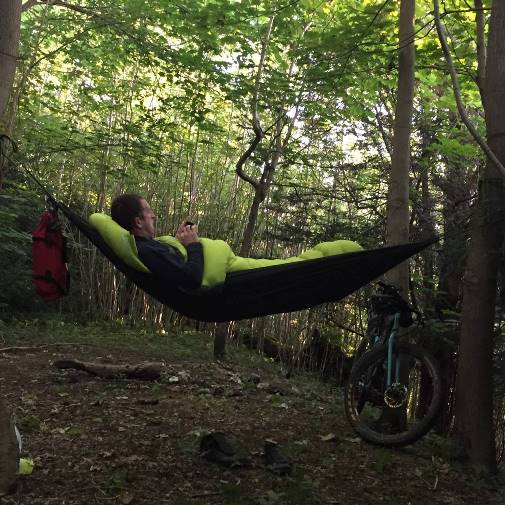 Hammocking: a new experience for me, but one I'd want to try again.